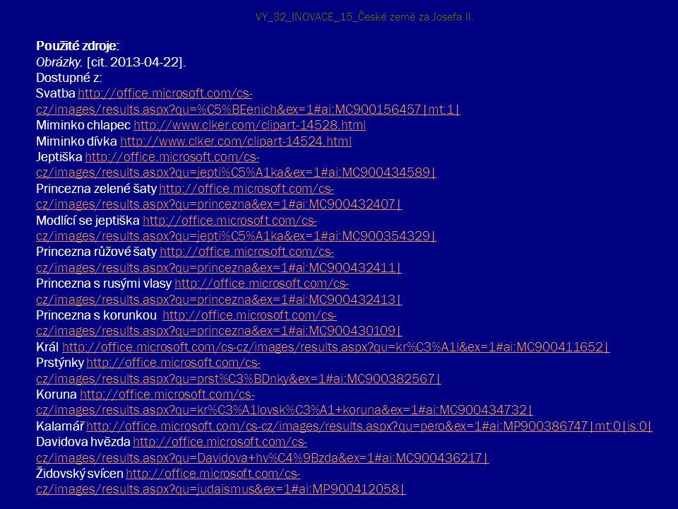 Použité zdroje: Obrázky. [cit. 2013-04-22]. Dostupné z: Svatba http://office.microsoft.com/cs- cz/images/results.aspx?qu=%C5%BEenich&ex=1#ai:MC9001564