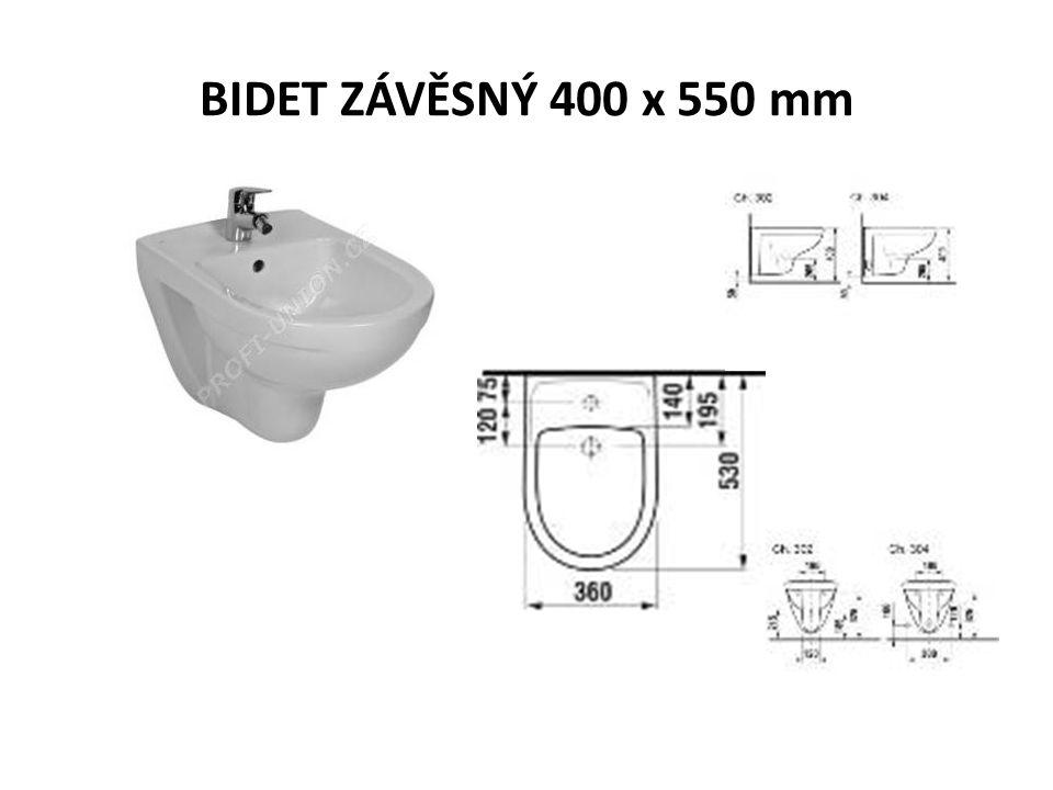 BIDET ZÁVĚSNÝ 400 x 550 mm