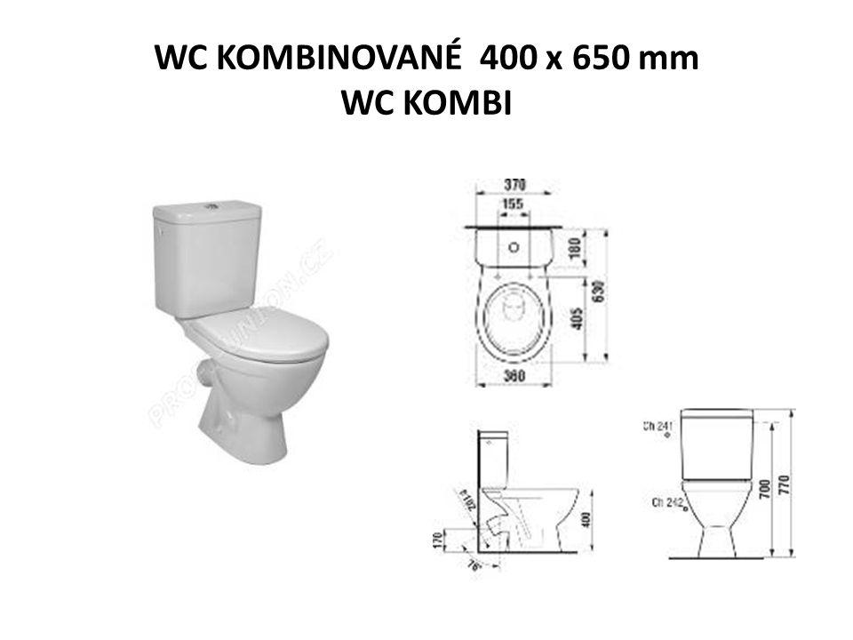 WC KOMBINOVANÉ 400 x 650 mm WC KOMBI