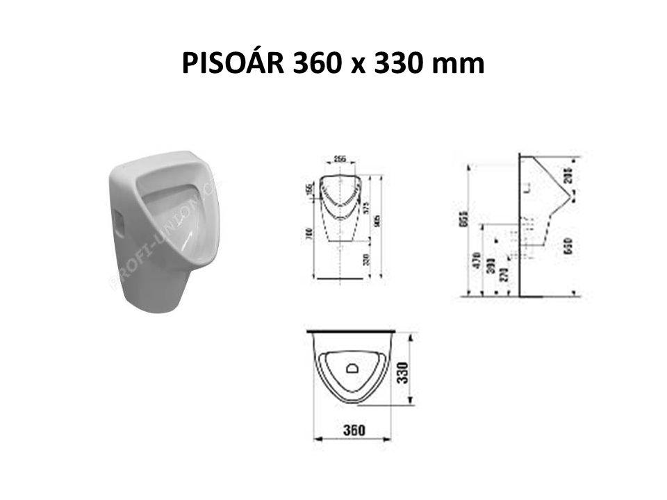 PISOÁR 360 x 330 mm