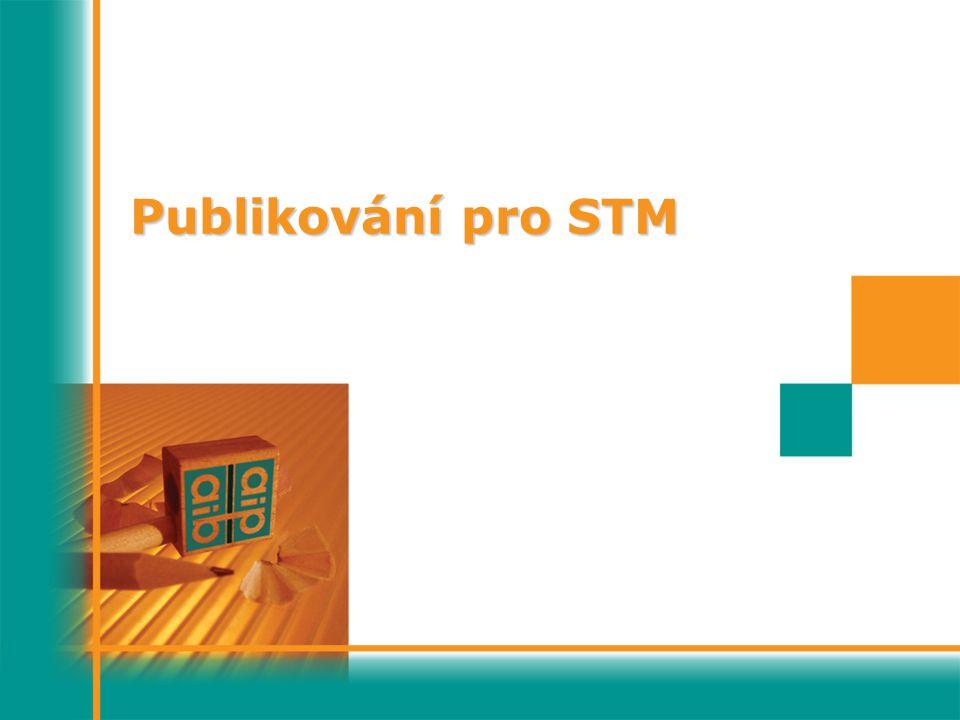 Publikování pro STM