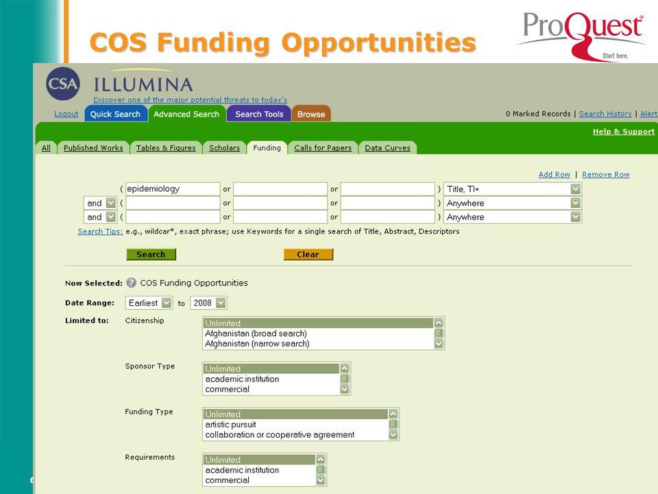 Světový informační průmysl a trh (Vladimír Karen, AiP)64 COS Funding Opportunities