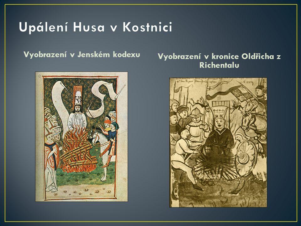 Vyobrazení v Jenském kodexu Vyobrazení v kronice Oldřicha z Richentalu