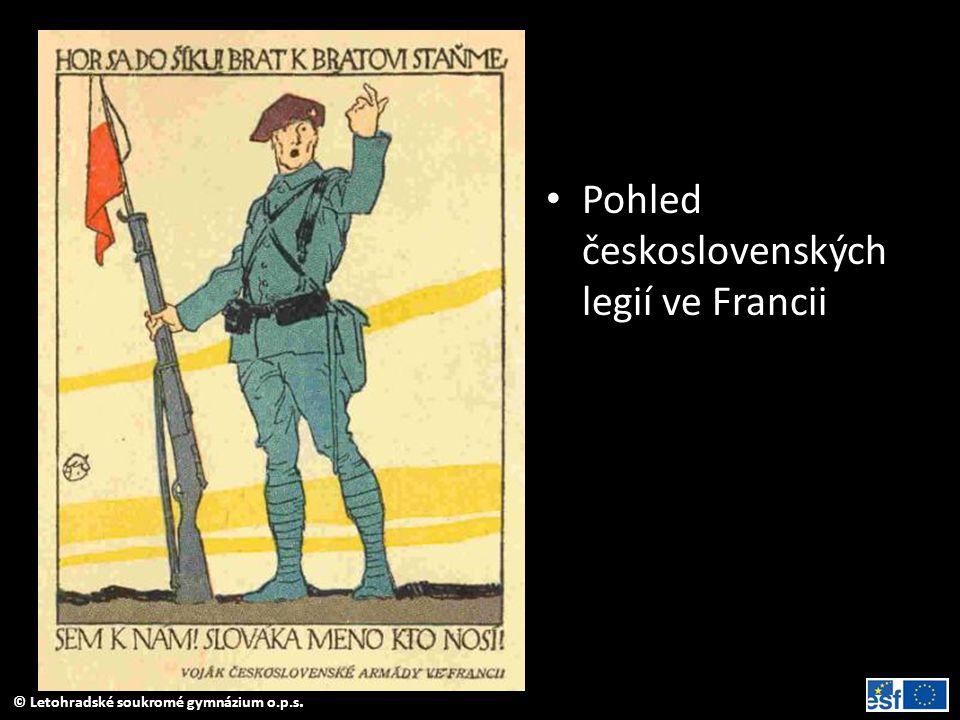 • Pohled československých legií ve Francii