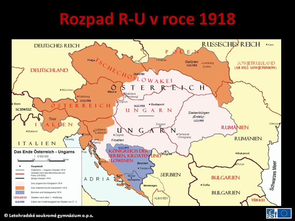 Rozpad R-U v roce 1918