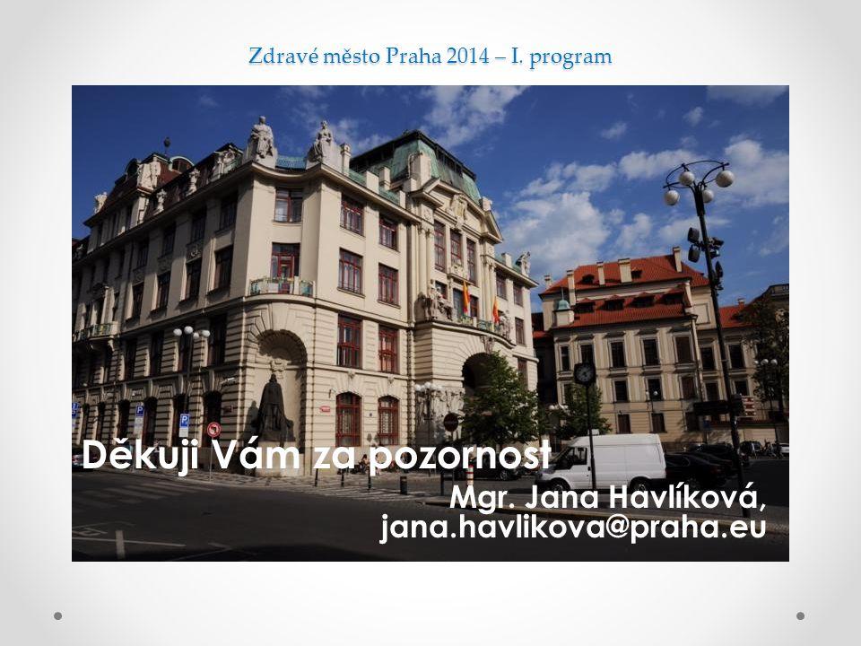 Zdravé město Praha 2014 – I. program Děkuji Vám za pozornost Mgr.