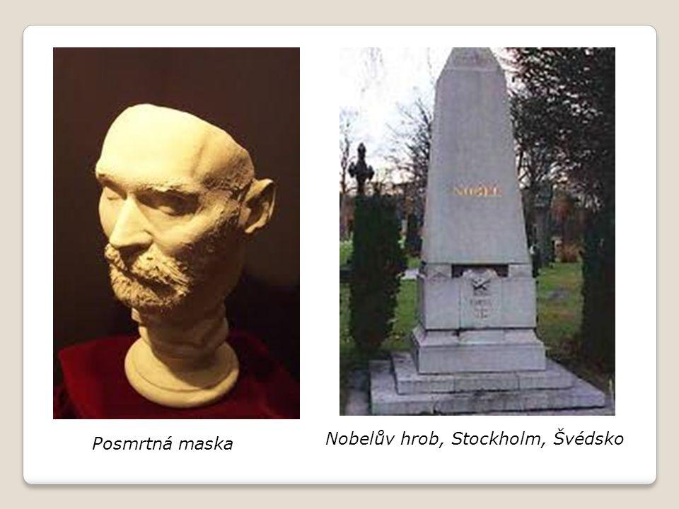 Posmrtná maska Nobelův hrob, Stockholm, Švédsko