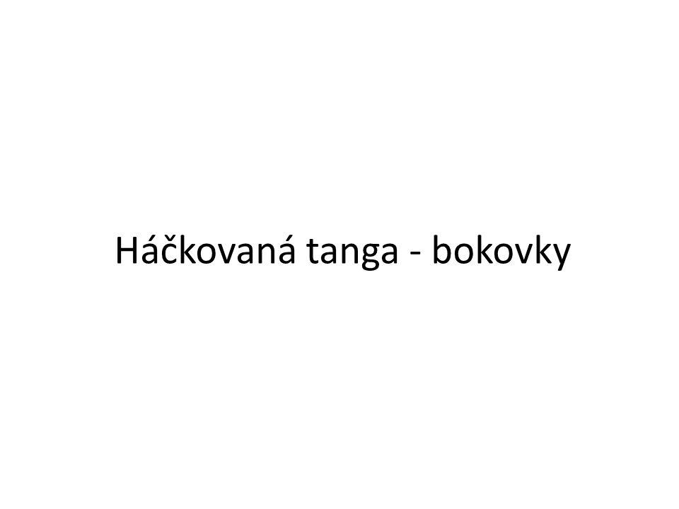 Háčkovaná tanga - bokovky