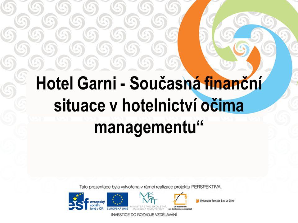 Hotel Garni - Současná finanční situace v hotelnictví očima managementu