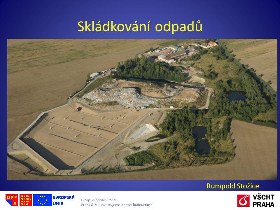 Evropský sociální fond Praha & EU: Investujeme do vaší budoucnosti Skládkování odpadů Rumpold Stožice obr. B.Vodrlind