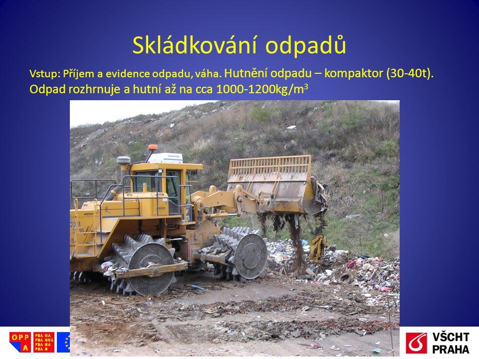 Evropský sociální fond Praha & EU: Investujeme do vaší budoucnosti Skládkování odpadů Vstup: Příjem a evidence odpadu, váha. Hutnění odpadu – kompakto