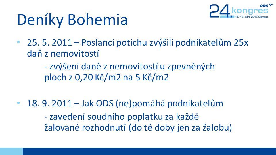 Deníky Bohemia • 25.5.