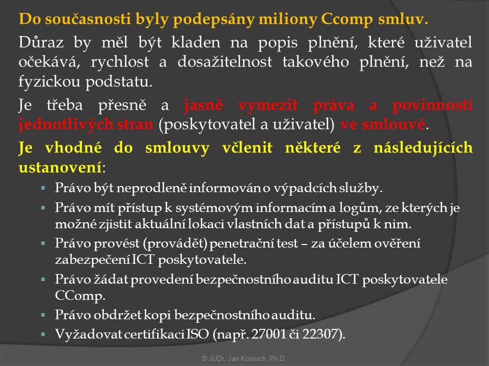 Do současnosti byly podepsány miliony Ccomp smluv.