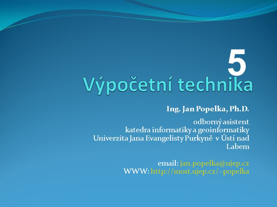 Ing. Jan Popelka, Ph.D.