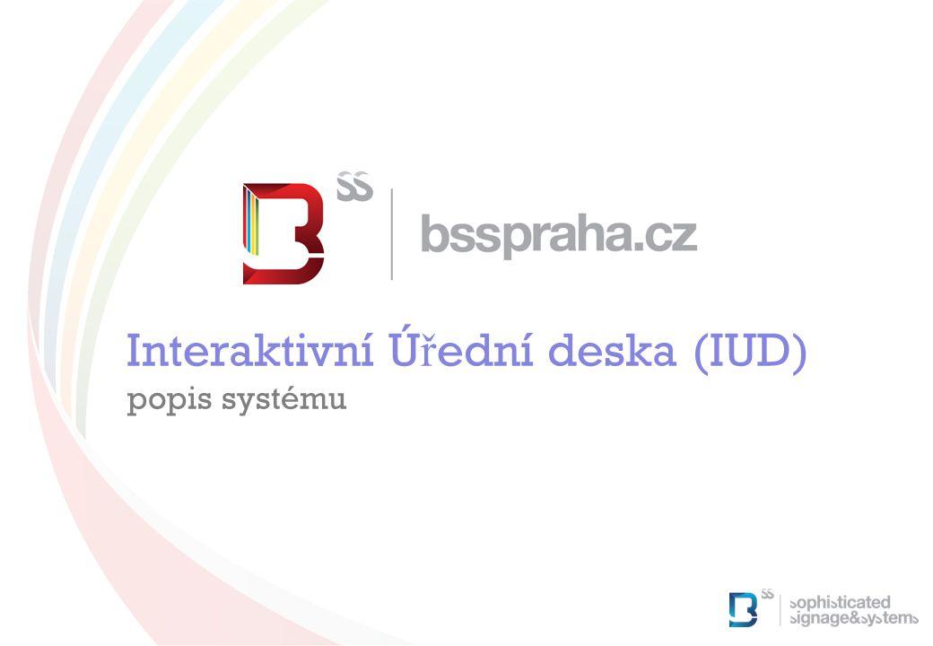 Interaktivní Ú ř ední deska (IUD) popis systému