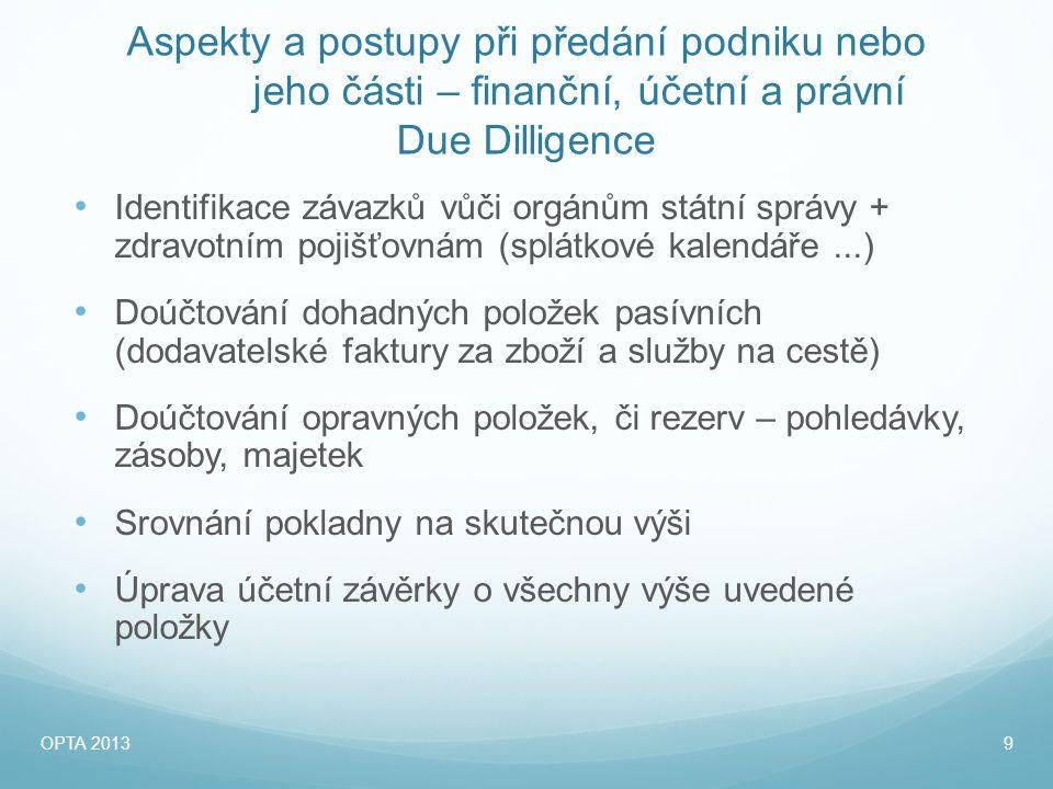 Formy převodu podniku • Převod / Prodej obchodního podílu – s.r.o.