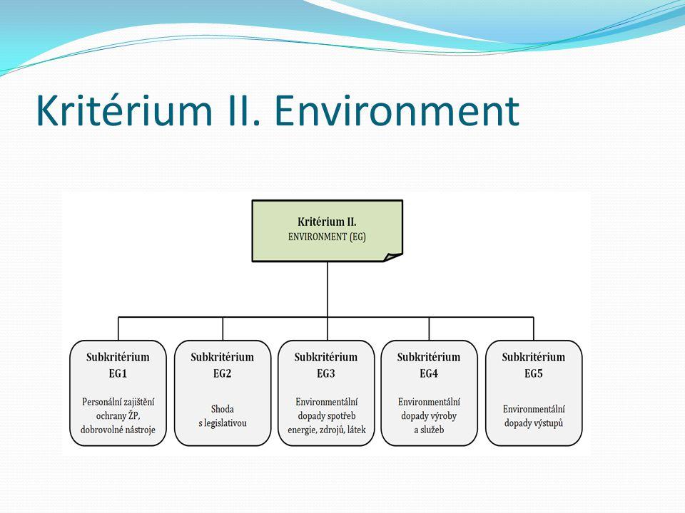 Kritérium II. Environment