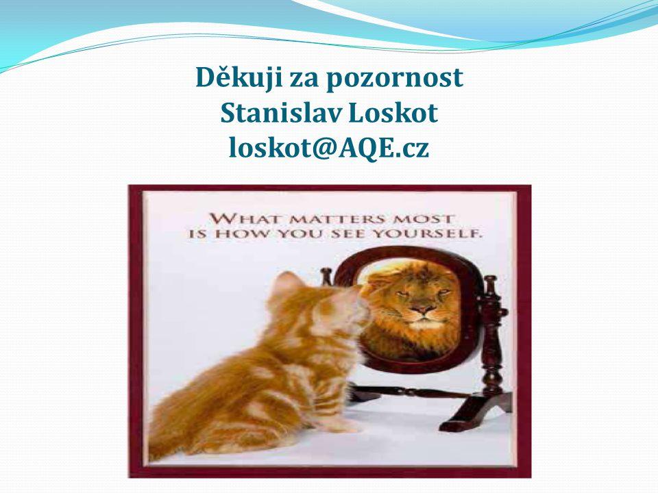 Děkuji za pozornost Stanislav Loskot loskot@AQE.cz