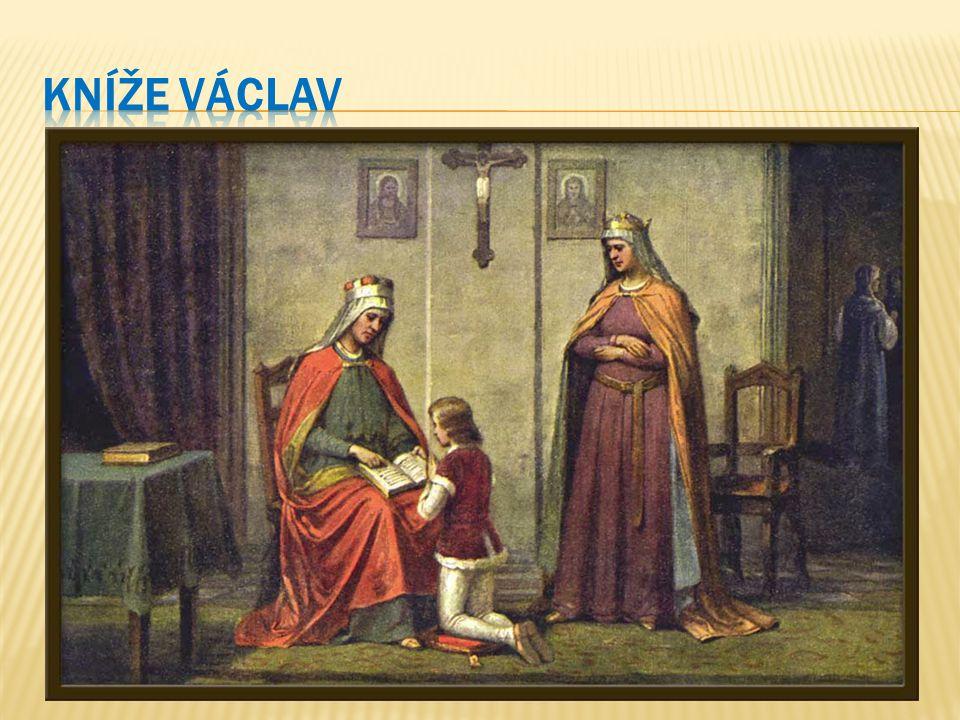Jako prvorozený syn se Václav měl ujmout knížecího stolce, vlády se však zmocnila jeho matka Drahomíra.
