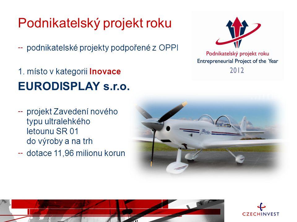 Podnikatelský projekt roku podnikatelské projekty podpořené z OPPI 1.