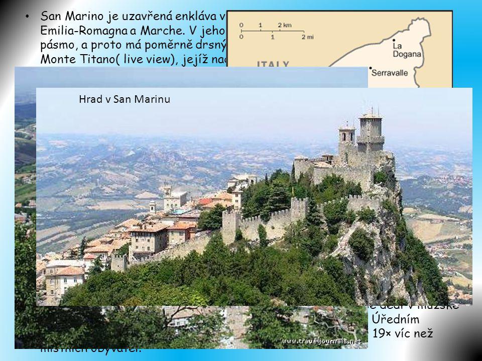 • San Marino je pravděpodobně nejstarší stále existující republikou na světě. Bylo údajně založeno v roce 301 zkušeným budovatelem označovaným jako St