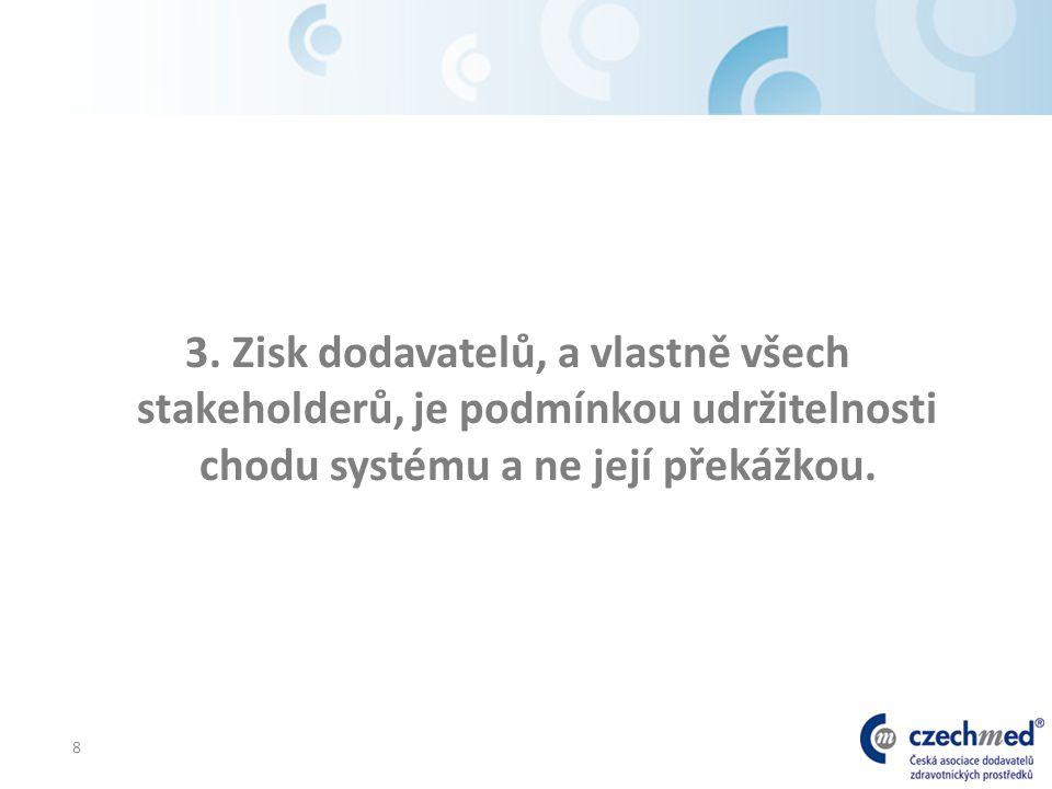8 3. Zisk dodavatelů, a vlastně všech stakeholderů, je podmínkou udržitelnosti chodu systému a ne její překážkou.