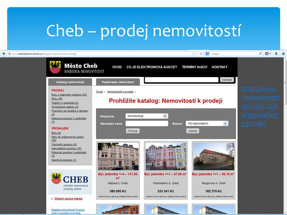 Cheb – prodej nemovitostí http://www. chebskenem ovitosti.cz/k ategorie/byt y/prodej