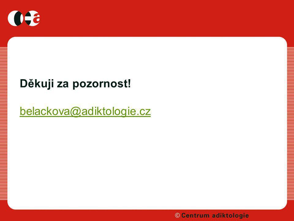 Děkuji za pozornost! belackova@adiktologie.cz belackova@adiktologie.cz
