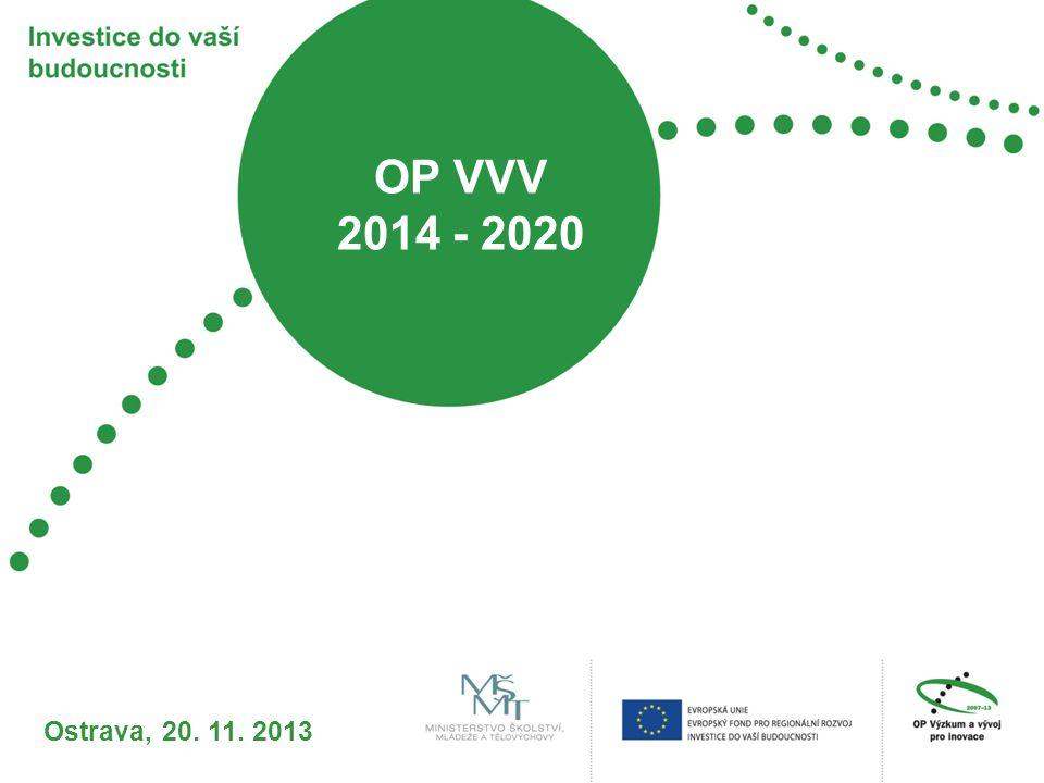 OP VVV 2014 - 2020 Ostrava, 20. 11. 2013