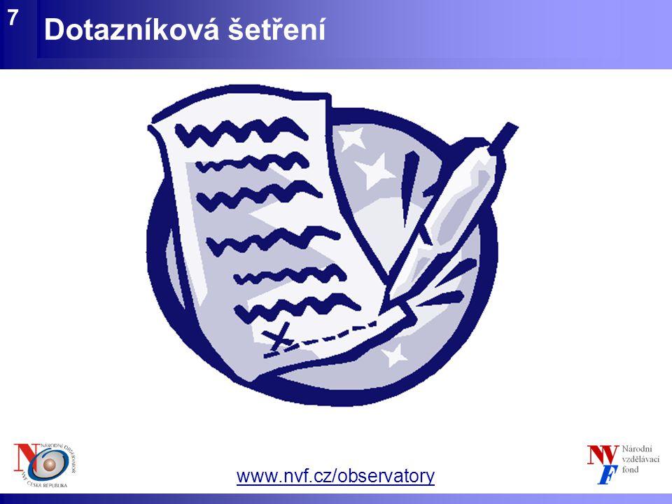 www.nvf.cz/observatory Dotazníková šetření 7