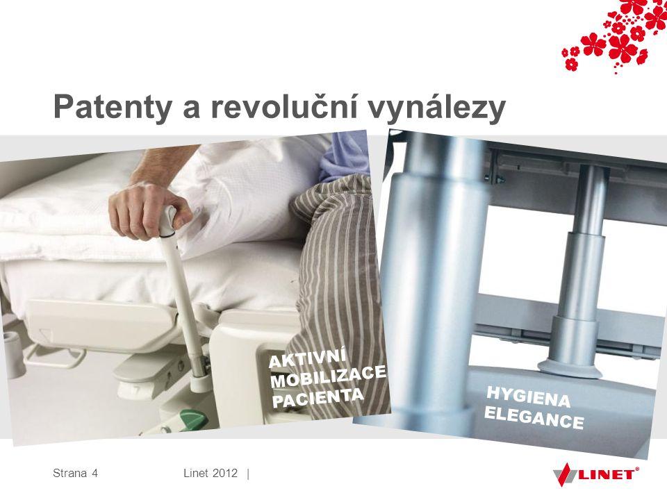 Patenty a revoluční vynálezy Strana 4 AKTIVNÍ MOBILIZACE PACIENTA HYGIENA ELEGANCE Linet 2012 |