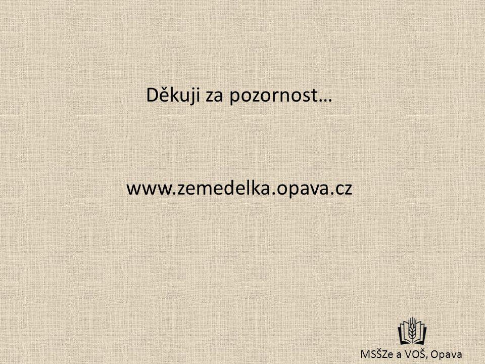 Děkuji za pozornost… www.zemedelka.opava.cz MSŠZe a VOŠ, Opava