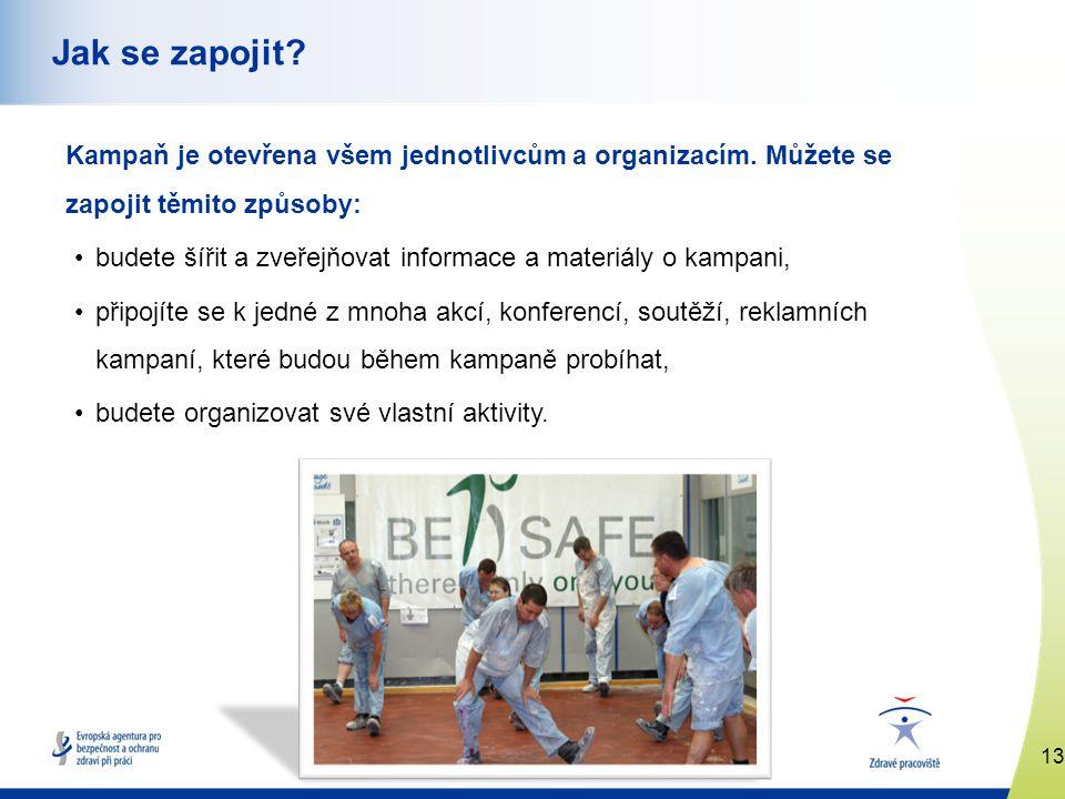 13 www.healthy-workplaces.eu Jak se zapojit. Kampaň je otevřena všem jednotlivcům a organizacím.