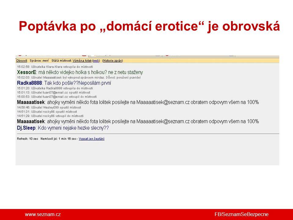 """www.seznam.cz Poptávka po """"domácí erotice"""" je obrovská FB/SeznamSeBezpecne"""