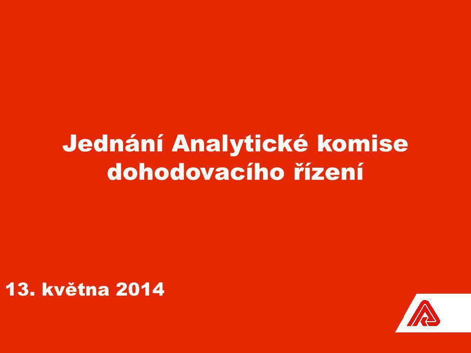 Jednání Analytické komise dohodovacího řízení 13. května 2014