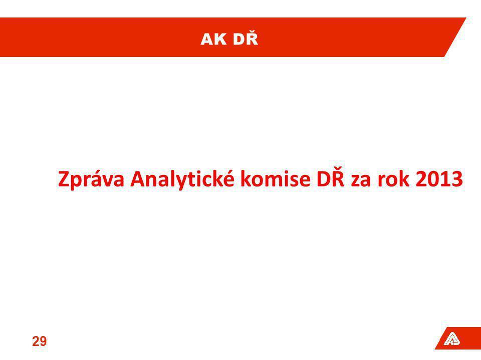 AK DŘ 29 Zpráva Analytické komise DŘ za rok 2013
