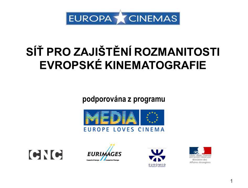 1 SÍŤ PRO ZAJIŠTĚNÍ ROZMANITOSTI EVROPSKÉ KINEMATOGRAFIE podporována z programu