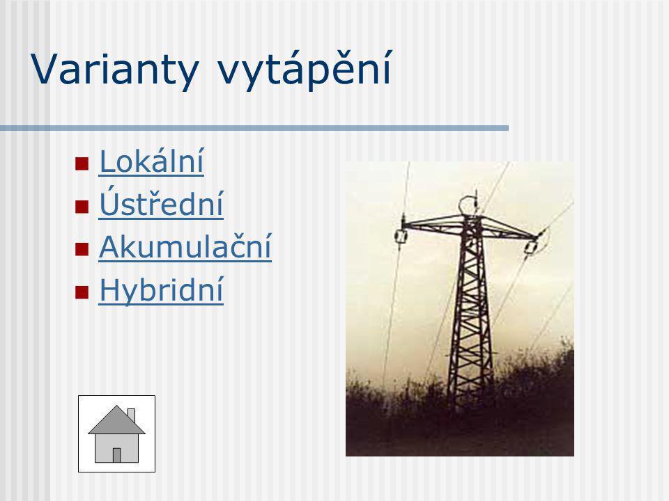 Lokální Lokální  Ústřední Ústřední  Akumulační Akumulační  Hybridní Hybridní
