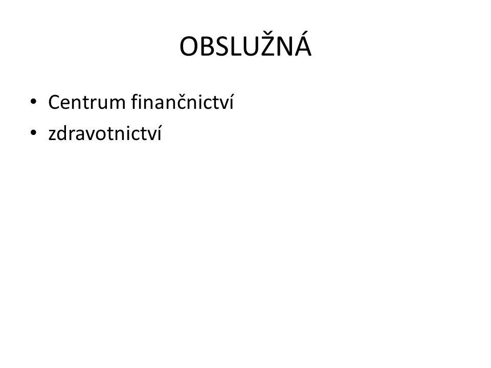 OBSLUŽNÁ • Centrum finančnictví • zdravotnictví