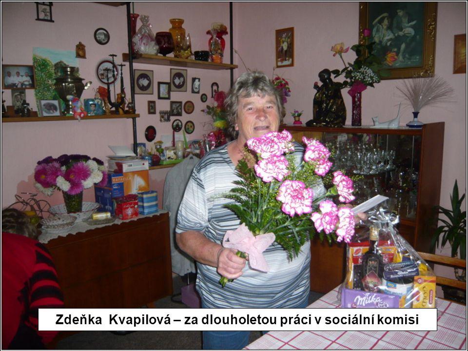 Zdeňka Kvapilová – za dlouholetou práci v sociální komisi