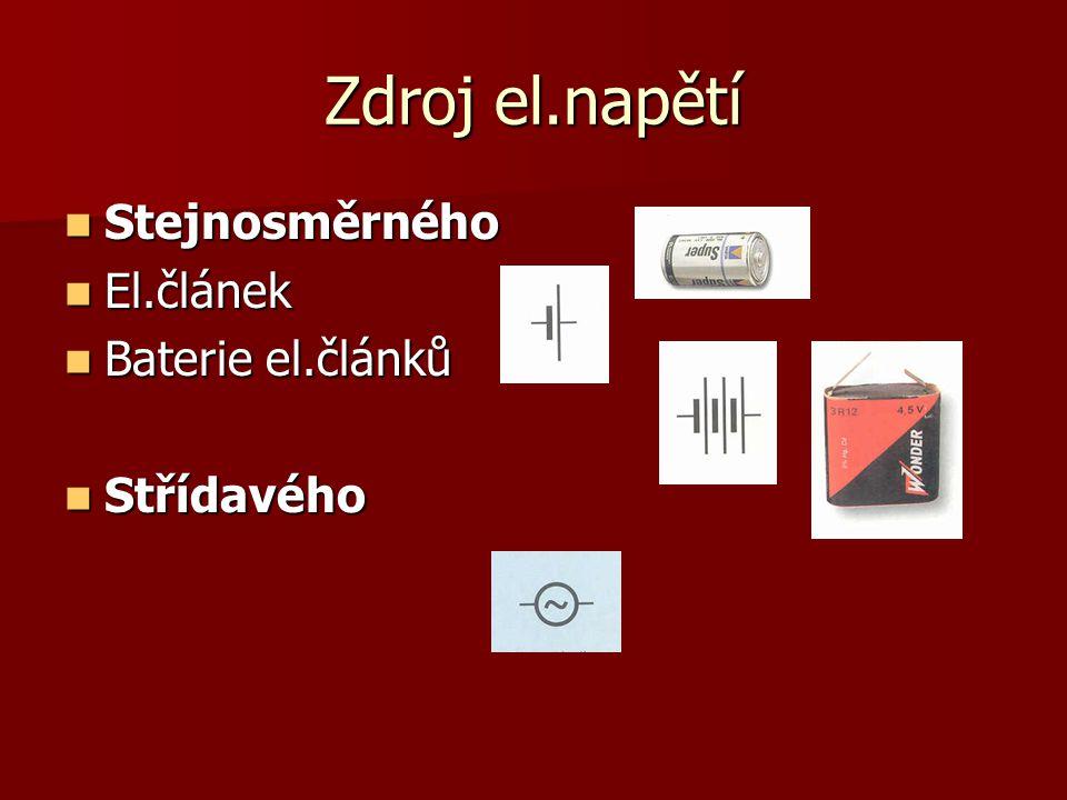 El.spotřebiče  Žárovka  Rezistor  Kondenzátor  Cívka