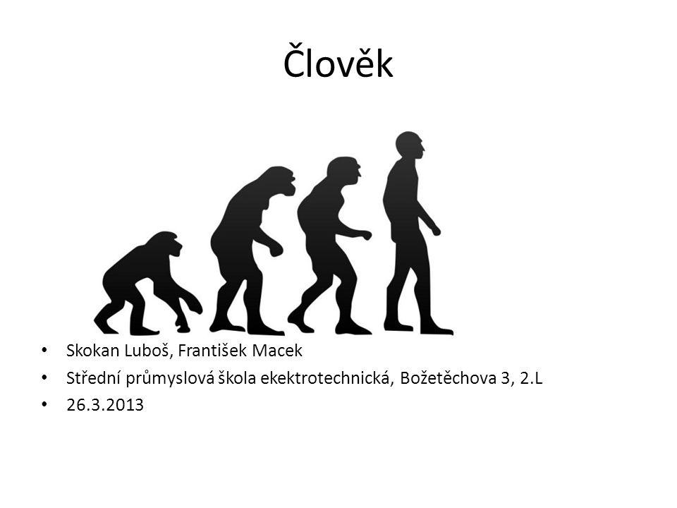 Člověk • Skokan Luboš, František Macek • Střední průmyslová škola ekektrotechnická, Božetěchova 3, 2.L • 26.3.2013