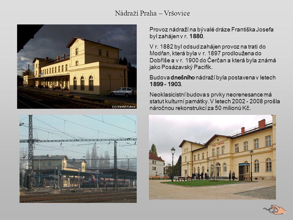HLUBOČEPY a Pražský Semmering Železniční stanice Praha - Krč stanice Krč byla zprovozněna v roce 1882