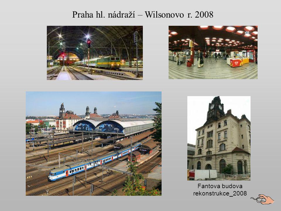 Názvy nádraží Od roku 1871 se nádraží jmenovalo Praha nádraží Františka Josefa I.