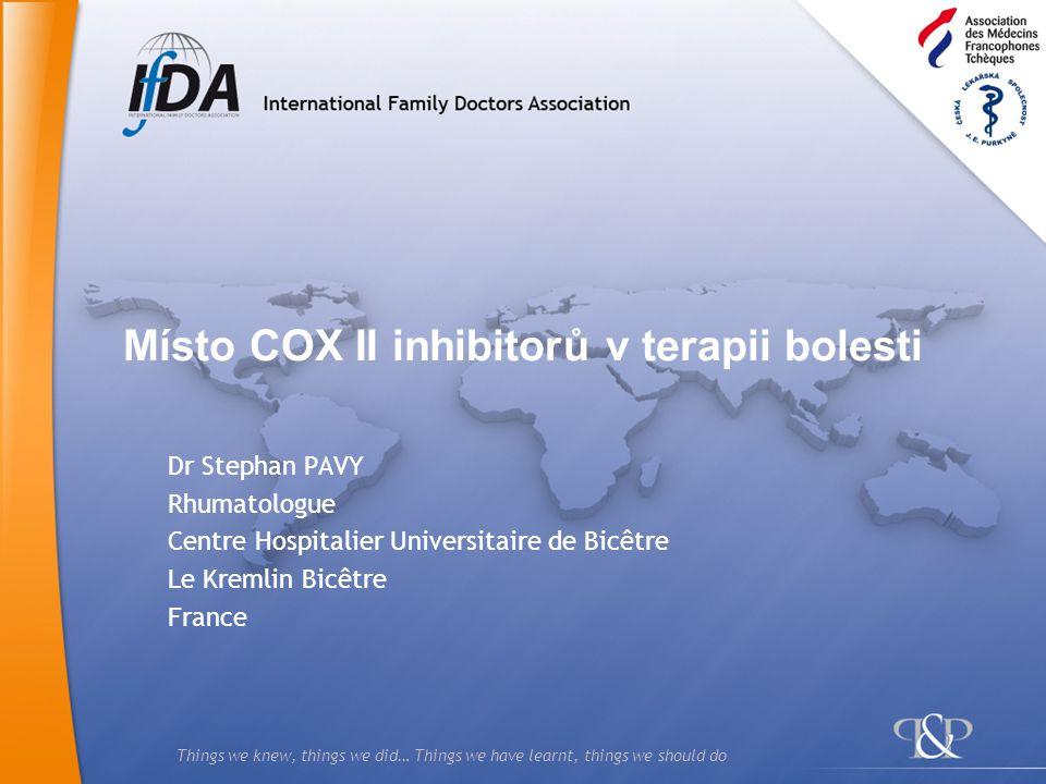 12 Proč nemůžeme považovat NSAID/Coxiby za obyčejná analgetika.