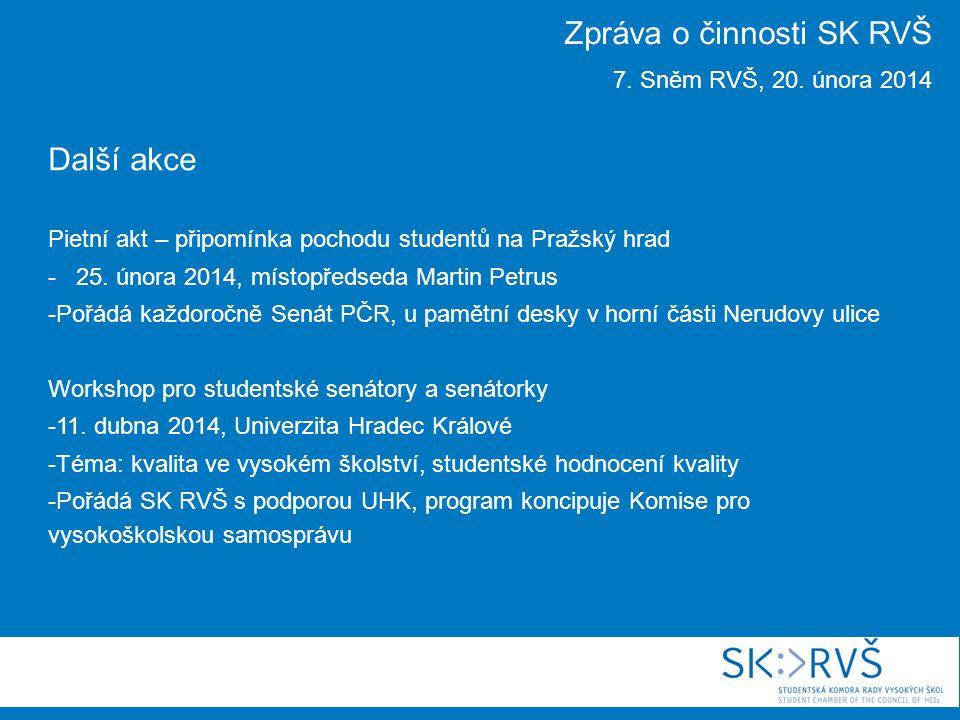 Další akce Pietní akt – připomínka pochodu studentů na Pražský hrad - 25.