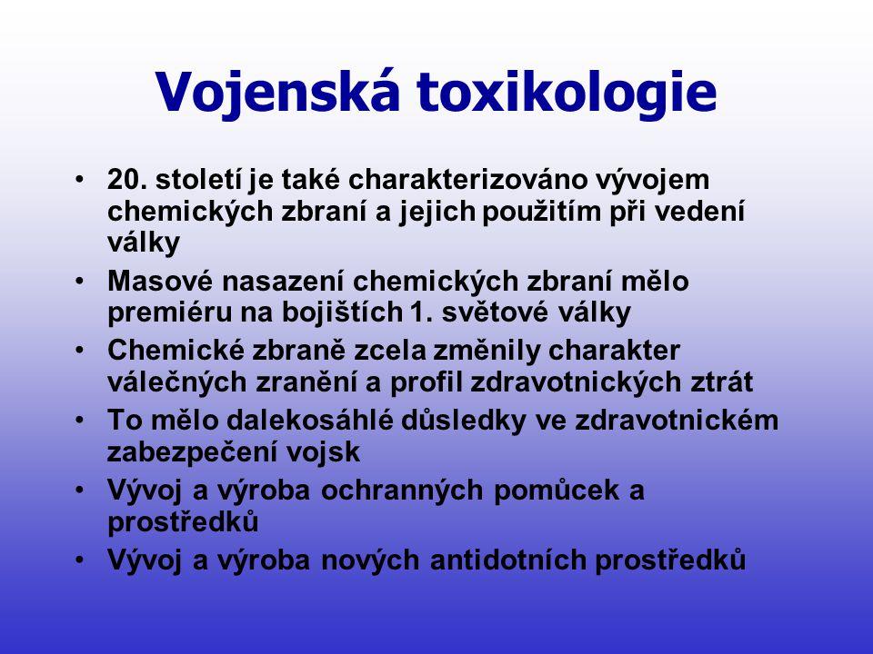 Vojenská toxikologie •20.