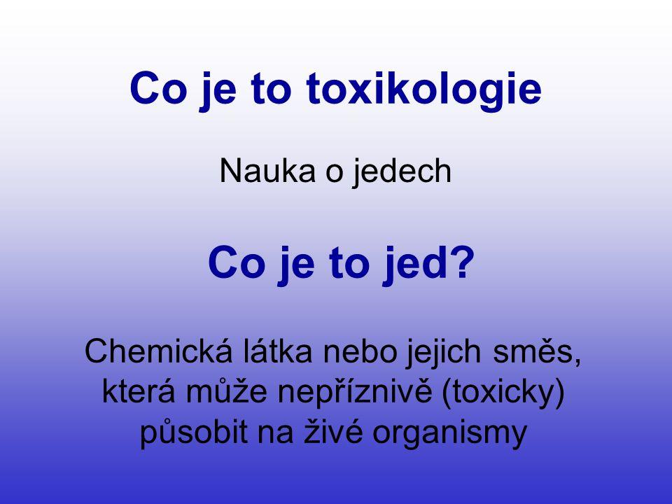 Co je to toxikologie Nauka o jedech Co je to jed.
