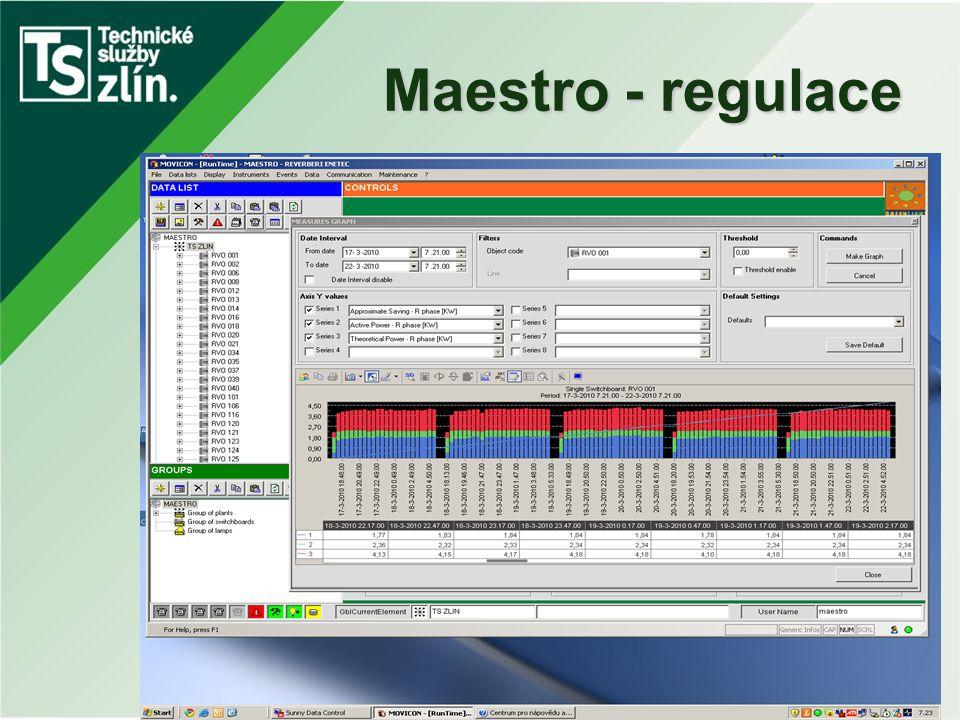 Maestro - regulace