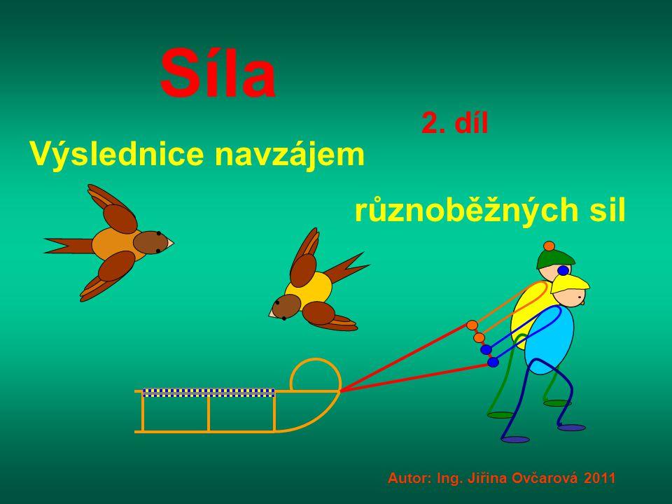Síla Autor: Ing. Jiřina Ovčarová 2011 2. díl Výslednice navzájem různoběžných sil